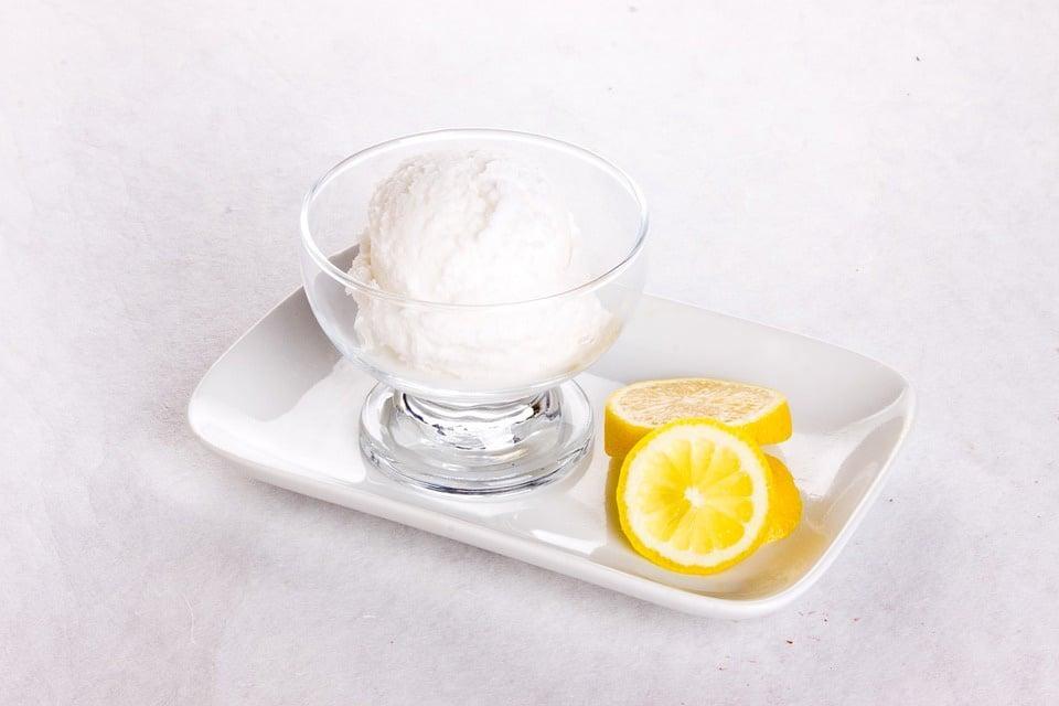 Receta de helado de limón
